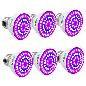 billige LED Økende Lamper-BRELONG® 6pcs 7 W Voksende lyspære 300 lm E14 GU10 MR16 54 LED perler SMD 2835 Blå 220-240 V