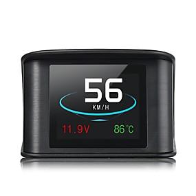 povoljno Prikaz na vjetrobranskom staklu HUD-pc 3.5-inčni led glava gore zaslon LED indikator višenamjenski zaslon čep i igrati za kamion autobus prikazati km / h m / h brzina vožnje