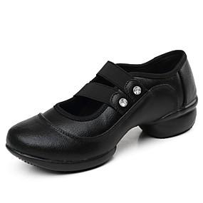 Per donna Sneakers da danza moderna Pelo di vitello Sneaker A fantasia  Piatto Personalizzabile Scarpe da ballo Nero   Rosso   Da allenamento 793530338a0
