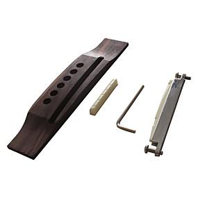 abordables Accessoires d'Instrument-Professionnel Accessoire de guitare Pont Guitare acoustique En bois alliage de zinc Plastique Accessoires d'Instrument de Musique