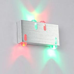 billige Vegglamper-moderne 4w ledet vegg sconce innendørs hall opp ned spot lys aluminium dekorative belysning