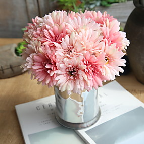 cheap Others-Artificial Flowers 7 Branch Wedding Pastoral Style Chrysanthemum Tabletop Flower