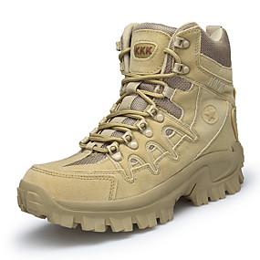 baratos Botas Masculinas-Homens Sapatos Confortáveis Camurça Outono & inverno Formais Botas Aventura Manter Quente Preto / Khaki / Atlético / Ao ar livre / Botas do Deserto