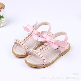 c317dcedf08 Girls  Shoes PU(Polyurethane) Summer Comfort   Flower Girl Shoes Sandals  for White   Green   Pink