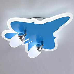 povoljno Kids Room-ZHISHU 2-Light Flush Mount Ambient Light Slikano završi Acrylic Glass Zatamnjen 110-120V / 220-240V Zatamnjen daljinskim upravljačem Bulb Included / Integrirano LED svjetlo