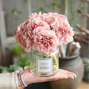 38802299ff7 Umělé květiny 5 Větev Svatba Svatební kytice Pivoňky Věčné květy Květina na  stůl