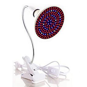 abordables Lampe de croissance LED-1pc 40 W Lampe de culture 1800 lm E26 / E27 200 Perles LED SMD 5730 Spectre complet Clip de support de lampe flexible Blanc Chaud Blanc Rouge 85-265 V