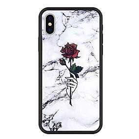 ราคาถูก โทรศัพท์ & อุปกรณ์เสริม-Case สำหรับ Apple iPhone X / iPhone 8 Plus Pattern ปกหลัง การ์ตูน / ดอกไม้ / Marble Hard อะคริลิค สำหรับ iPhone XS / iPhone XR / iPhone XS Max