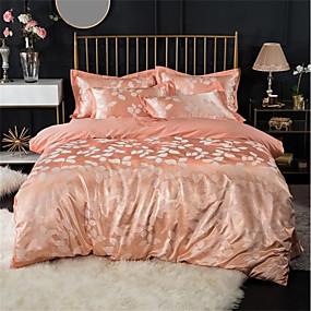 cheap High Quality Duvet Covers-Duvet Cover Sets Luxury 100% Cotton / Silk / Cotton Blend / Cotton Jacquard Printed & Jacquard 4 PieceBedding Sets / 300 / 4pcs (1 Duvet Cover, 1 Flat Sheet, 2 Shams)