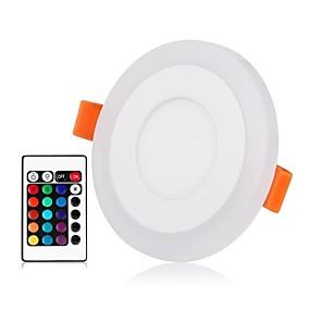 billige Innfelte LED-lys-ZDM® 1set 3 W / 6 W 45 LED perler Fjernkontroll Mulighet for demping Lett installasjon Panellys Led-Nedlys RGB + Varm RGB + Hvit 85-265 V Kommersiell Hjem / kontor Entré / trapper / RoHs / CE