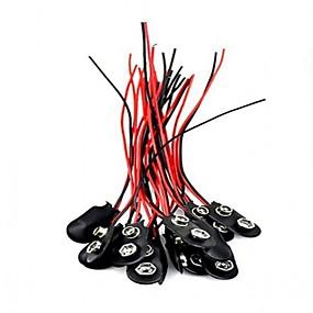billige Koblinger & Terminaler-20stk 9v jeg skriver batteriklemme stik 9 volt batteriklemmer stik