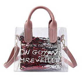 Női Táskák PVC táska szettek 2 db erszényes készlet Minta Mértani Fehér    Fekete   Arcpír rózsaszín 1241883523
