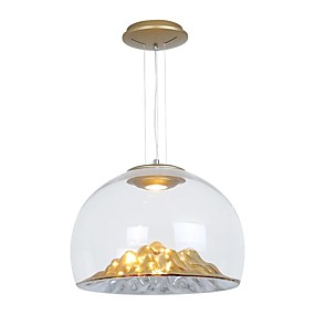 abordables Plafonniers-QIHengZhaoMing Inversé Lampe suspendue Lumière d'ambiance Plaqué Métal Verre 110-120V / 220-240V Blanc Crème Ampoule incluse / LED Intégré