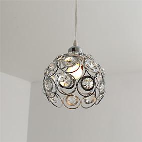 billige Hengelamper-moderne krystall anheng lys mini stil galvanisert metall stue soverom spisestue kjøkkenbelysning