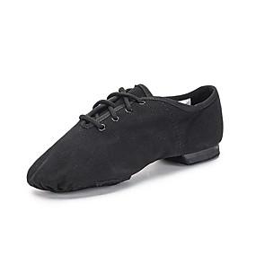 billige Moderne sko-Jente Jazz-sko / Moderne sko Lerret Flate / Joggesko Flat hæl Dansesko Svart