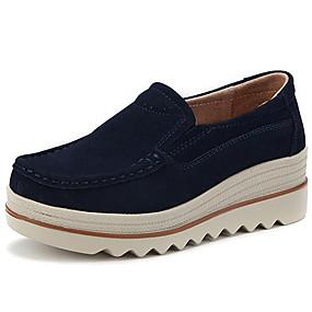 Χαμηλού Κόστους Γυναικεία Αθλητικά-Γυναικεία Αθλητικά Παπούτσια Τακούνι Σφήνα Δερμάτινο Ανατομικό Φθινόπωρο Σκούρο μπλε / Γκρίζο / Αμύγδαλο