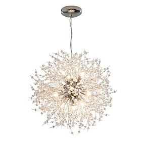 cheap Chandeliers-Modern Electroplated Globe Chandeliers Firework Led Vintage Pendant Lights Living Room Dining Room G9 Bulb Base