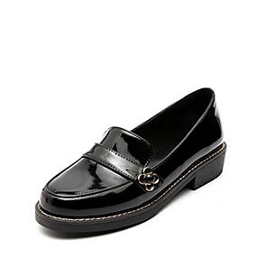 voordelige Damesinstappers & loafers-Dames Loafers & Slip-Ons Platte hak Gesloten teen  Lakleer Comfortabel Lente / Zomer Zwart / Bordeaux / Dagelijks