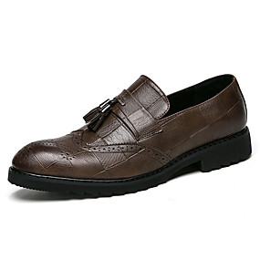 cheap Men's Slip-ons & Loafers-Men's Formal Shoes PU Spring & Summer / Fall & Winter Business / Casual Loafers & Slip-Ons Non-slipping Black / Brown / Party & Evening / Party & Evening / Office & Career