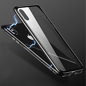 billige iPhone-etuier-Etui Til Apple iPhone X / iPhone 8 Plus Transparent Bagcover Ensfarvet Hårdt Metal for iPhone X / iPhone 8 Plus / iPhone 8