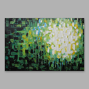 cheap Others-Oil Painting Hand Painted - Abstract Modern Stretched Canvas