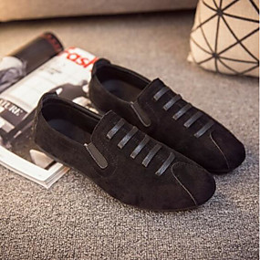 74d90110b Homens Sapatos Confortáveis Couro Ecológico Primavera & Outono Casual  Mocassins e Slip-Ons Preto / Cinzento