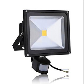 halpa Valonheittimet-1kpl 50 W LED-valonheittimet Infrapunasensori / Liikkeentunnistusmonitori Lämmin valkoinen / Kylmä valkoinen 85-265 V Ulkovalaistus / Piha / Puutarha 1 LED-helmet
