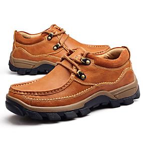 baratos Tênis Masculino-Homens Sapatos Confortáveis Pele Napa Primavera / Outono Tênis Marron / Khaki / Ao ar livre