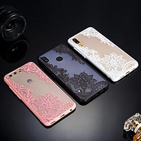 voordelige Telefoons en accessoires-hoesje Voor Huawei P20 / P20 lite Mat / Doorzichtig / Reliëfopdruk Achterkant Lace Printing Hard Acryl voor Huawei P20 / Huawei P20 Pro / Huawei P20 lite / P10 Plus / P10 Lite / P10