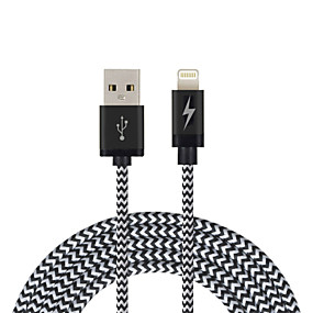 voordelige iPhone-kabel en laders-Verlichting Kabel 2m-2.99m / 6.7ft-9.7ft Gevlochten Nylon USB kabeladapter Voor iPad / Apple / iPhone