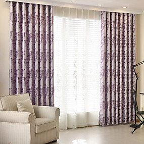 Blackout Curtains Drapes Bedroom Floral 100% Polyester Jacquard Jacquard