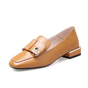 90acfdc2a426 Dámské Komfortní boty Lakovaná kůže Jaro   podzim Na běžné nošení Nokasíny  Kačenka Čtvercová špička Černá   Žlutá   Červená
