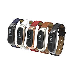 abordables Accesorios para Smartwatch-Ver Banda para Mi Band 3 Xiaomi Correa Deportiva Cuero Auténtico Correa de Muñeca
