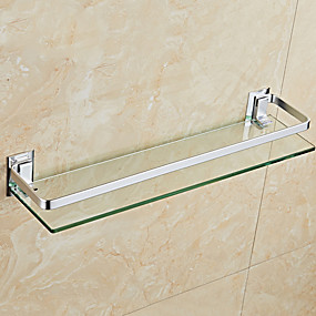 cheap Bath Fixtures-Bathroom Shelf New Design / Cool Modern Glasses / Stainless Steel / Iron 1pc Wall Mounted