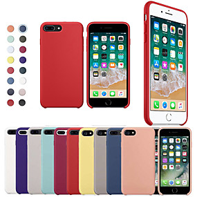 cheap iPhone Cases-Case For Apple iPhone XR XS XS Max Shockproof Back Cover Solid Colored Soft Silicone for iPhone X 8 8 Plus 7 7plus 6s 6s Plus SE 5 5S