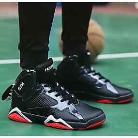olcso Férfi sportcipők-Férfi Kényelmes cipők Mikroszálas Tavasz & Ősz Sportcipők Kosárlabda Fehér / Fekete / Fekete / Vörös