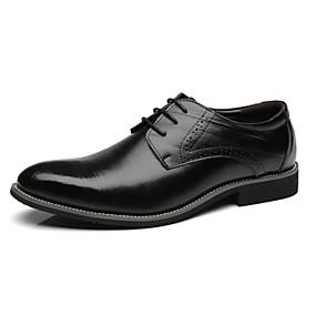 baratos Oxfords Masculinos-Homens Sapatos formais Microfibra Primavera Negócio Oxfords Preto / Vinho / Amarelo