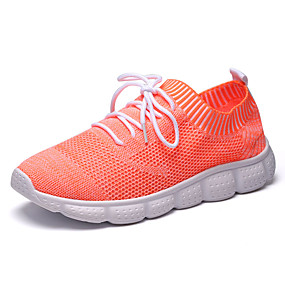 cheap Running Shoes-Men's Comfort Shoes Mesh / Elastic Fabric Fall Sporty Athletic Shoes Running Shoes Non-slipping White / Black / Orange