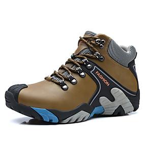 voordelige Wijdere maten schoenen-Heren Legerlaarzen Leer Winter Sportief / Informeel Laarzen Trektochten Houd Warm Kuitlaarzen Blauw / Bruin / Koffie / ulko- / Desert Boots