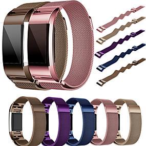 voordelige Smartwatch-accessoires-Horlogeband voor Fitbit Charge 2 Fitbit Milanese lus Roestvrij staal Polsband