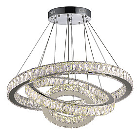 3ae332c4abf Circular Chandelier Downlight Electroplated Metal Crystal, LED 110-120V /  220-240V Warm White / Cold White LED Light Source Included / LED Integrated