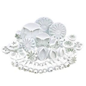 billige Bakeformer-33 Plast Multifunksjonell Søtt 3D-tegneseriefigur Kake Til Småkake Multifunktion Kakekuttere Bakeware verktøy