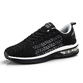 cheap Running Shoes-Men's Comfort Shoes Knit / Mesh Spring & Summer Sporty Athletic Shoes Running Shoes Breathable Color Block Black / Black / White / Black / Red