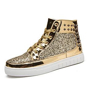 voordelige Damessneakers-Dames Comfort schoenen Synthetisch Herfst Sportief / Informeel Sneakers Trektochten Platte hak Goud / Zwart / Zilver
