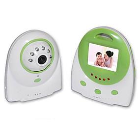 """billige IP-kameraer-baby monitor 8001 3.6mm 0.3mp cmos 70 ° nattesyn rekkevidde 2-3 m 2.4ghz 1.5 """"tft"""