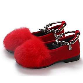 23e29e0feb77e Girls  Shoes Faux Fur   Microfiber Spring   Fall Comfort Flats for Kids    Toddler Black   Gray   Red