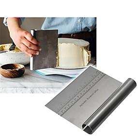 billige Bakeformer-rustfritt stål pizza deig scraper cutter baker bakteppe spatler fondant kake dekorasjonsverktøy kjøkken tilbehør