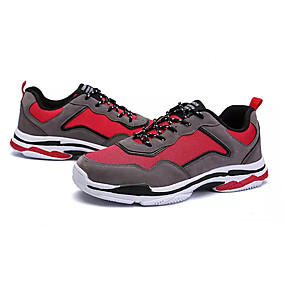 cheap Running Shoes-Men's Comfort Shoes Mesh Fall Casual Athletic Shoes Running Shoes Breathable White / Black / Burgundy