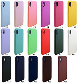 זול טלפונים ואביזרים-מגן עבור Apple iPhone XR / iPhone XS Max מזוגג כיסוי אחורי אחיד רך TPU ל iPhone XS / iPhone XR / iPhone XS Max