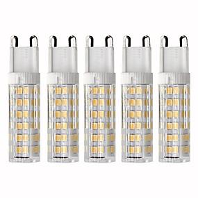billige Kornpærer med LED-5pcs 4.5 W 450 lm G9 LED-kornpærer T 76 LED perler SMD 2835 Mulighet for demping Varm hvit / Kjølig hvit 220 V